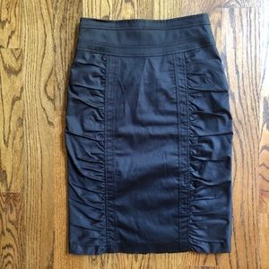 Nanette Lepore High Waist Ruched Pencil Skirt Sz 4